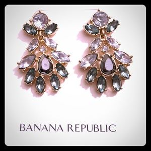 Banana Republic gemstone 💎 drop earrings NWT